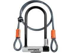 KRYPTONITE KryptoLok Standard Shackle D-Lock with 4 Foot Kryptoflex Cable