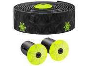 SUPACAZ Super Sticky Kush Galaxy Print Bar Tape  Black/Neon Yellow  click to zoom image