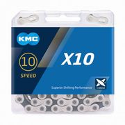 KMC X10 Silver/Black 10 Speed Chain