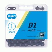 "KMC B1 Wide Black 1/8"" Single Speed Chain"