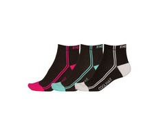 ENDURA Women's CoolMax Stripe Socks - Triple Pack